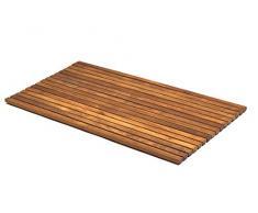 AsinoX TEK4H8100 - Tarima de ducha y baño flexible, madera de teca