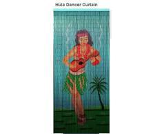 El Hula Dancer de bambú Cortina de cuentas