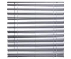 Intensions - Persiana veneciana de aluminio, color plateado, aluminio, Plateado, 60x130cm