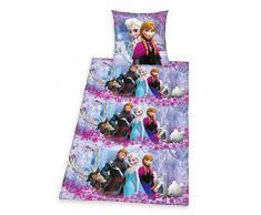 Herding 448040050412 Walt Disney Brave Frozen Ropa de Cama, Funda de Almohada: 80 x 80 cm y Funda de edredón: 135 x 200 cm, 100% algodón, diseño de