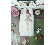 Snurk Dreaming - Colección de Ropa de Cama Infantil, algodón, 140 x 220 cm, Color Blanco