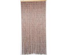 Cortina para puerta, de madera y bambú, tamaño de 90x200 cm, para interiores y exteriores, varios modelos para elegir, de MadeInNature® (Marron acajou et Naturel 5501390)