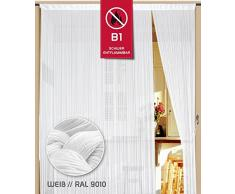 Cortina de hilos (200 cm x 300 cm Color Blanco en b1 No inflamable