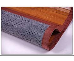 Bambú Alfombra # Tamaños Diferentes # bambú alfombra - 5 o 17 mm bambú ancho., marrón, 140x70 cm - 5mm Bambusbreite