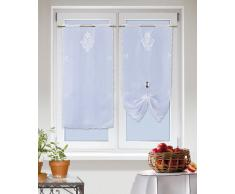 Linder 1013 /10/78096/440/45 x 90 - Visillo, poliéster, 45 x 90 cm, color blanco