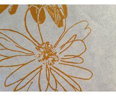 Mantel antimanchas Olinda 70%algodón 30%lino con protección de resina y Teflón de Dupont(R) - D.150 - Amarillo