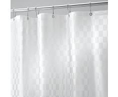 InterDesign Checkers - Cortina decorativa para ducha, 183 x 183 cm, color glaseado