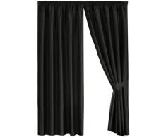 Desconocido Dreams N Drapes Java - Cortina forrada (168 x 183 cm), color negro