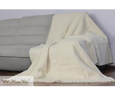 Manta de viaje ecológica lana pura, algodón, 450 g/m², 160 x 200 cm