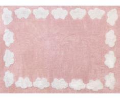 Aratextil Nube Alfombra Infantil, Algodón, Rosa, 120x160 cm