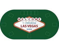 "Tapete Poker Antideslizante Oval ""Las vegas"" verde PVC 160 cm x 80 cm | Tapete poker mesa PVC | Tapete vinilico para mesas | Poker ""Las vegas"" verde"