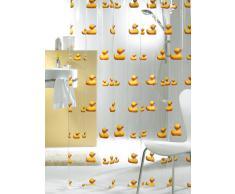 Sealskin Cortina de Ducha Duckling, 180 x 200 cm, PEVA Plástico, Transparente y Amarillo