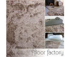 Alfombra de Pelo Largo Prestige marrón claro 120x170 cm - alfombra blanda extra larga