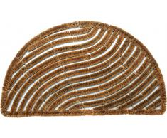 Dandy 60 x 40 cm Bradfield Half Moon excelente Rasquetas alfombrilla de fibra de coco, Natural
