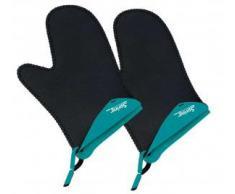 Spring 2094054802 Grips - Guantes de cocina cortos (1 par), color turquesa