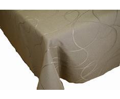 Comptoir du Linge CSI09012 - Mantel (poliéster/(algodón/teflon, 180 x 180 x 0,5 cm), color gris topo