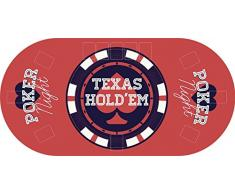 "Tapete Poker Antideslizante Oval ""Texas hold´em"" 120 cm x 60 cm | Tapete poker mesa PVC | Tapete vinilico para mesas | Poker ""Texas hold´em"""