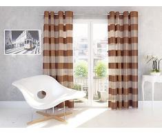 Splendid FLORENCE - Cortina de confección con ollaos (140 x 245 cm), color chocolate
