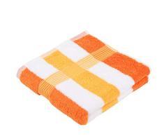 Gözze New York Juego de 2 Toallas de Manos, 100% Algodón, Naranja/Blanco/Amarillo, 50 x 100 cm, 2