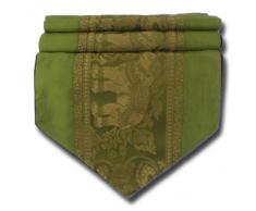 by soljo - verde mesa de mantel de lino camino de mesa corredor seda tailandesa elefante Elegante 150 cm de largo x 30 cm