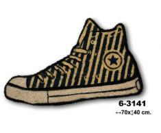 DonRegaloWeb - Felpudo de fibra de coco con base de goma con la forma de la zapatilla Converse