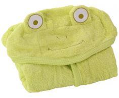 Minene envoltura toalla para los niños, con capucha, 80 x 135 cm, verde (grün)