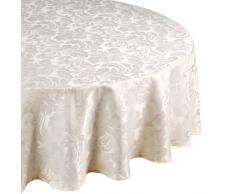 Home Creations Premier Cadiz - Mantel redondo (175,2 cm), color blanco