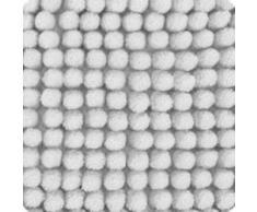Beautissu Alfombrilla de baño Antideslizante BeauMare WR Blanco - 80 x 50 cm - WC Alfombra de baño mullida Suave y Absorbente para Ducha, bañera e Inodoro también Adecuado para Suelo Radiante.