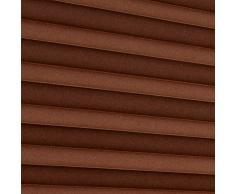 Persiana veneciana (sin agujeros diferentes tamaños y colores, marrón, 80x130 cm