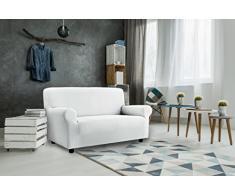 Italian Bed Linen Più Bello Funda Cubre Sofá, Poliéster, Blanco, 3 PLAZAS