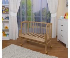 WALDIN Cuna colecho para bebé, cuna para bebé, altura regulable, natural sin tratamientos o lacado en blanco,Natural sin tratamientos