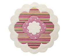 ESPRIT alfombra, poliacrílico, blanco, 100cm x 100cm rund
