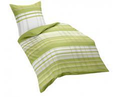 Kaeppel G-105856-03D3-VD97 puiido ropa de cama, satén, 1 x 80/80 con 155/220 cm, verde
