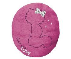 NICI - Cojín Love, peluche ovalado, color rosa, 36x40cm (39196)