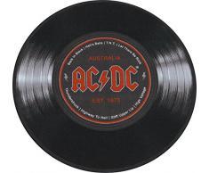 Desconocido AC/DC Schallplatte 50 Alfombra, Poliéster, Azul, 40 x 60 x 2 cm