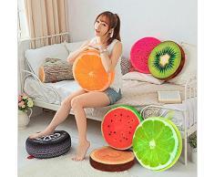 Milopon Silla Cojín de Asiento Acolchado con Respaldo Alto para Frutas Franela Redondo Asiento para sillas Muebles de Jardín