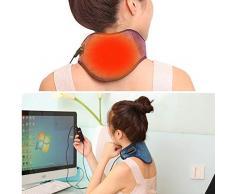 Almohadilla eléctrica para el cuello, portátil, bajo voltaje, infrarrojo lejano, tratamiento térmico Fisioterapia, calefacción eléctrica, envoltura del cuello - 5 niveles de ajuste de temperatura