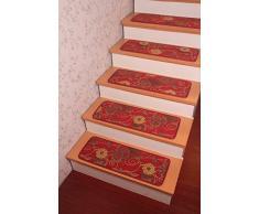 Estilo Pastoral Yinbei itcentre rolabond onestopdiy lobbismo alfombras - escalera rústica antideslizante estera alfombras - 65,02 cm x 24,89 cm