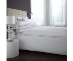 Charlotte Thomas CP23111 -Juego de sábanas y fundas de almohada, algodón y Percal de 135 x 190 cm, bordado, color blanco