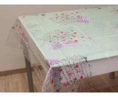 Mantel rectangular Romance PVC transparente 140x240 cm