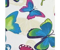 Just Contempo - Funda nórdica reversible (incluye fundas para almohadas, disponible en varios tamaños), diseño de mariposas, algodón poliéster, azul, rosa, blanco y morado, matrimonio