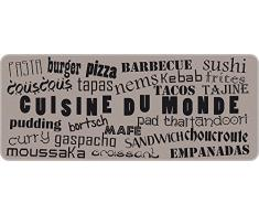 ID Mat Cuisine du Monde 50120 - Alfombra de fibra de poliamida/PVC, 120 x 50 x 0,4 cm, color beige