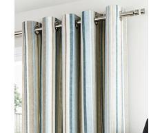 """Dreams n Drapes 66 x 182,88 cm """"diseño de rayas Melrose"""" Con forro cortinas, diseño floral"""
