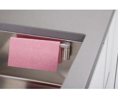 Soporte magnético para trapo de fregadero | Acero inoxidable de primera calidad sin succión percha cuelga paños de esponja secador de toallitas suecas | Se instala en 10 seg con imán para el mostrador | recto