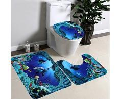 Tapete de baño antideslizante 20 x 31 + Tapete de baño Ushape 20X16 + 16x16 , - Tapete para regalo de Navidad - Tapete de baño absorbente Dormitorio Sala de estar Cocina, decoración