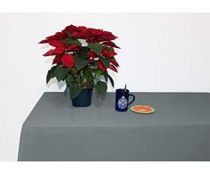 Perfect Textil Mantel Mesa Rectangular Color Liso de Poliéster Lavable Ideal para Las Mesas de Buffet Plegables, Mesas de Picnic al Aire Libre y Mesas de Comedor y Cocina (Gris, 150x200cm)