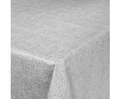 Mantel de Hule encerado a cuadros lavable para mesa, toalla, gris plateado, 100 x 140cm
