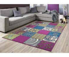 Nasher 101090 - Alfombra, diseño de patchwork multicolor 101728, multicolor, 60x110