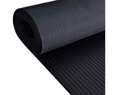 Rollo de piso ancho de goma acanalada | 4mm de espesor | 1.5m de ancho | 4m de largo | antideslizante | alfombrilla para suelos de seguridad para garaje, taller, gimnasio, estable, Parque etc