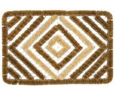 Dandy 60 x 40 cm Bradfield excelente diseño rasqueta alfombrilla de fibra de coco, natural/de desayuno